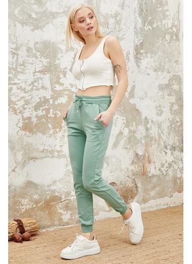 Reyon Kadın Pamuklu Eşofman Altı Mint Yeşil
